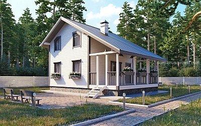 несимметричная двухскатная крыша с мансардой