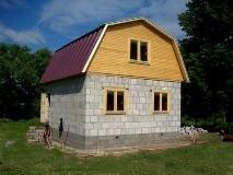 ломаная крыша с мансардой