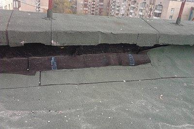 прогнивший рубероид на крыше