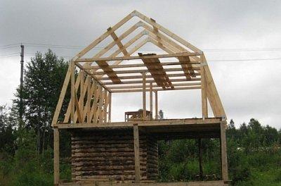 стропильная система готовой ломаной крыши
