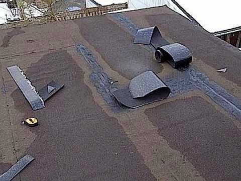заплатки на крыше из рубероида