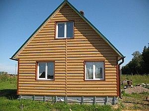 отделка дома панелями блок-хаус