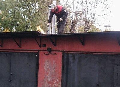 ремонт протечки кровли на гараже