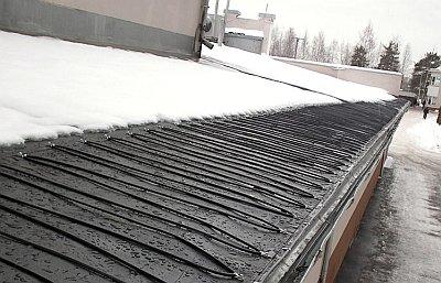 система обогрева на карнизе крыши