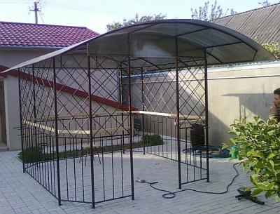 крыша ажурной беседки из поликарбоната
