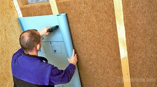 монтаж строительным степлером