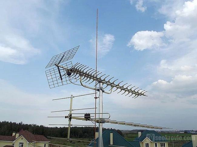 антенна как опора для молниеприемника