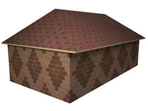 классический вид вальмовой крыши