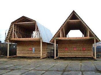 пример мансарды на ломаной и двускатной крыше
