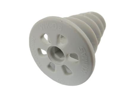 Dämmstoffdübel WK-DS050 zur Montage von Anbauteilen 50 mm Kunststoff Schneckendübel, Spiraldübel VPE: 10 St.