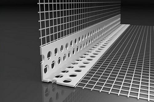 PVC-Gewebeeckwinkel PREMIUM f. WDVS, 8 x 12 cm / 200 cm (1 Bd à 50 Stb)