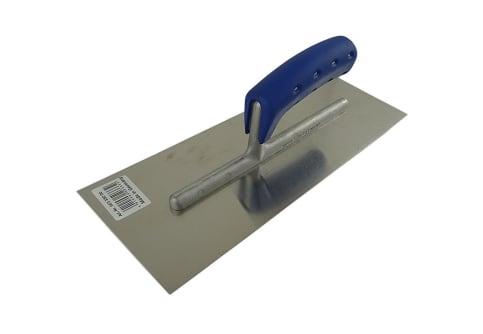 JUNG Glättekelle / Glätter mit Softgriff rostfrei blau