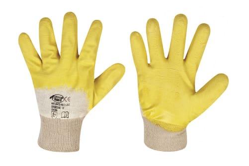 Handschuhe Latex mit Strickbund, Gr. 10
