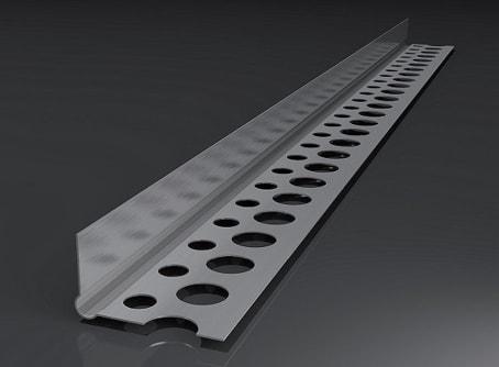 Alu-Abschlussprofil, Trockenbauprofil 2,50 m Putzstärke: 1 mm, 1 BUND (250 m)
