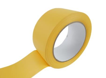 PVC-Schutzband 518-55, gelb, 50 mm, quergerillt