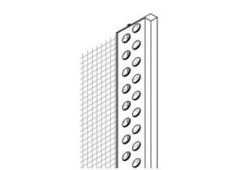 PVC-Abschlussprofil m. WDVS-Gewebe, 200 cm