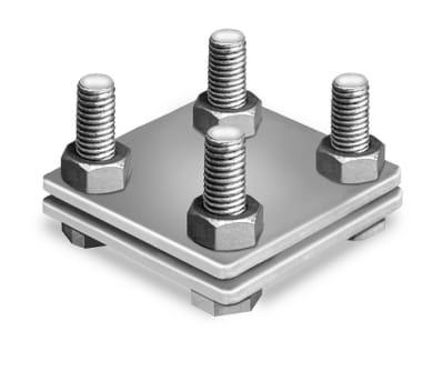 Kreuzverbinder verzinkt, 2-teilig, flach/flach