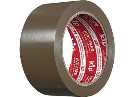 KIP 339-20 PVC-Packband, 50mm Braun (1 Kt.=36 Ro)
