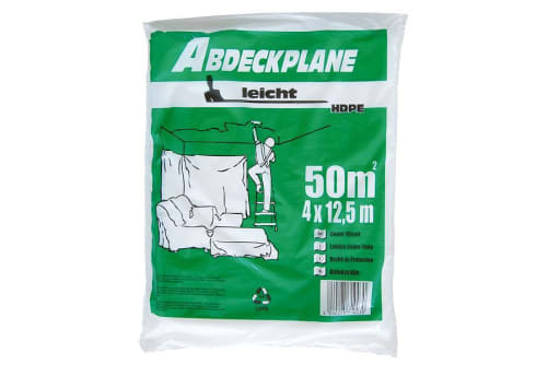 """HDPE-Abdeckplane """"leicht"""", 7 µm, transparent, diverse Ausführungen"""