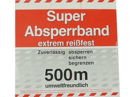 Folienabsperrband rot/weiss 500 m extrem reißfest