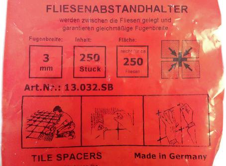 Fliesenkreuze 3 mm weiss