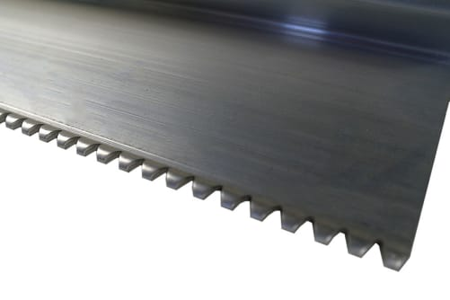 Profil-Kartätsche aus Aluminium gezahnt