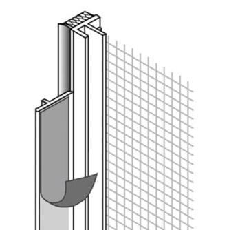 Anputzleiste mit Gewebe u. Schutzlippe, 240 cm