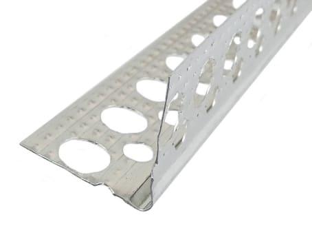 Alu-Eckwinkel 250 cm angeraut, Trockenbauprofil Innen, Putzstärke: 1 mm