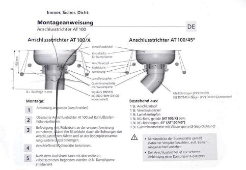 KG-Rohr-Anschlusstrichter AT100