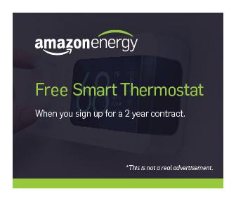 Mock of an Amazon Energy advertisement