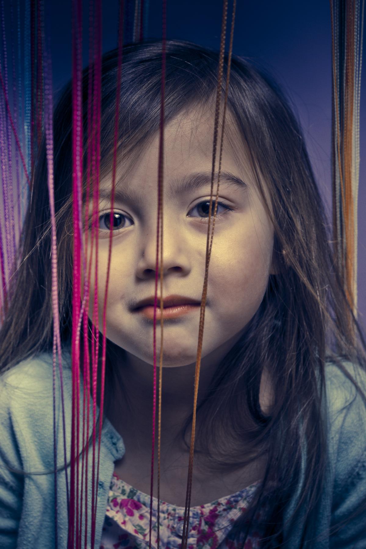 Kunstige kinderfotoshoot met Aimee en Belle