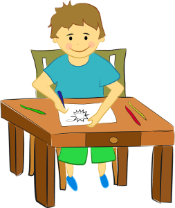 kid with Attention deficit hyperactivity disorder make contract