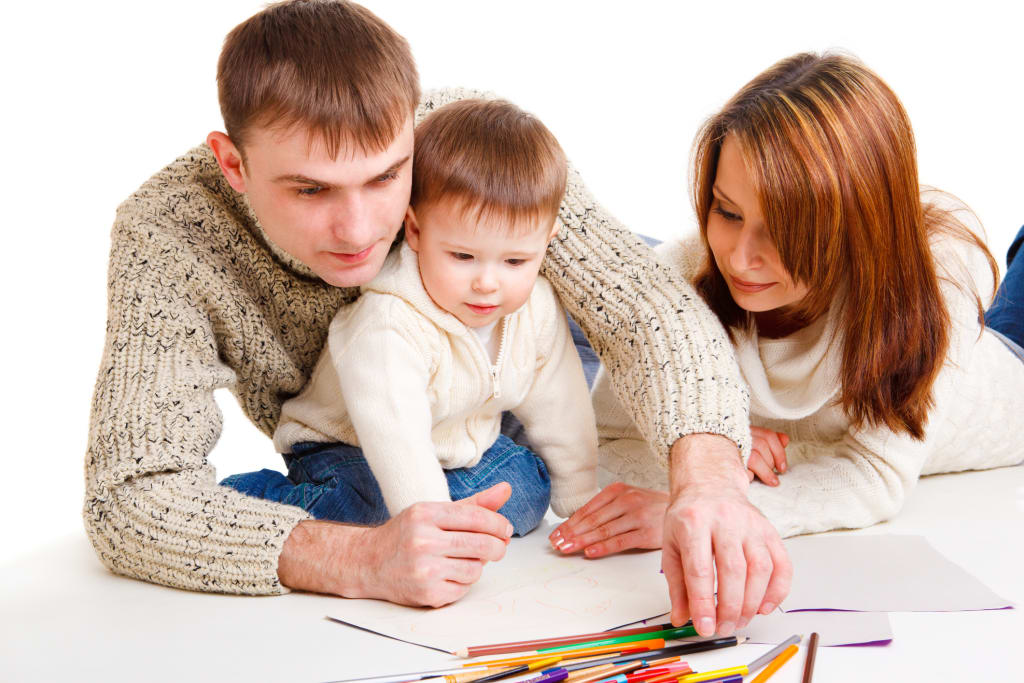 parent's roles in toddler's artistic activities