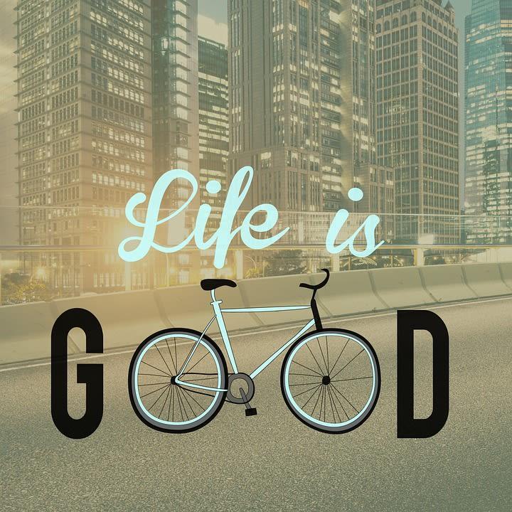 biking to enjoy life