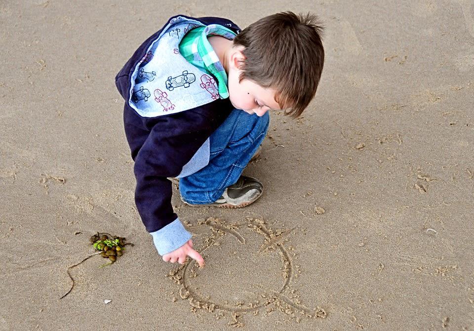 art activities on sand