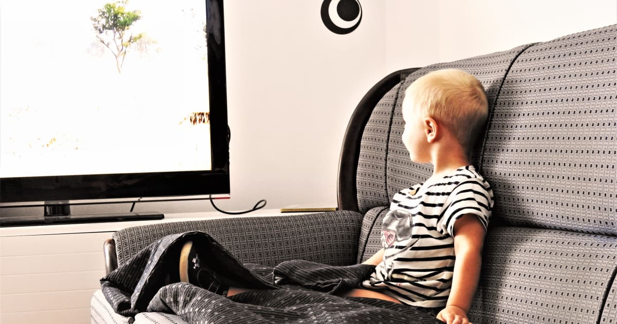 a child watch television