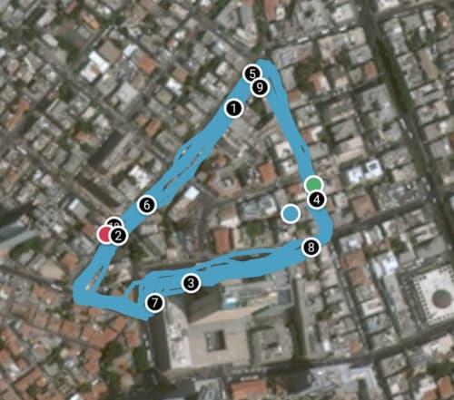 ריצת 10 קילומטר בימי בידוד של 100 מטר