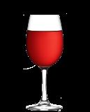 Glas Alkoholfritt Rött Vin