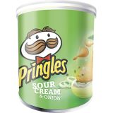 Pringles Sour Cream & Onion 40g. Hel låda (12st)