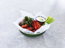 Hot buffalo chicken wings - WE DOUBLE YOUR ORDER