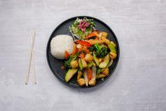Wokade Grönsaker med tofu (vegansk)
