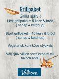 Grillpaket / Korv med bröd