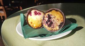 Liten muffin blåbär