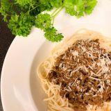 Spagetti med hemlagad köttfärssås