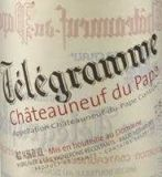 Télégramme Châteauneuf Du Pappe 2013