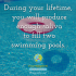 During your lifetime, you will produce enough saliva to fill two swimming pools.