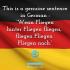 Complex German sentence