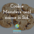 Cookie Monsters' real name is Sid.