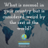 What is normal in your country but is considered weird by the rest of the world?