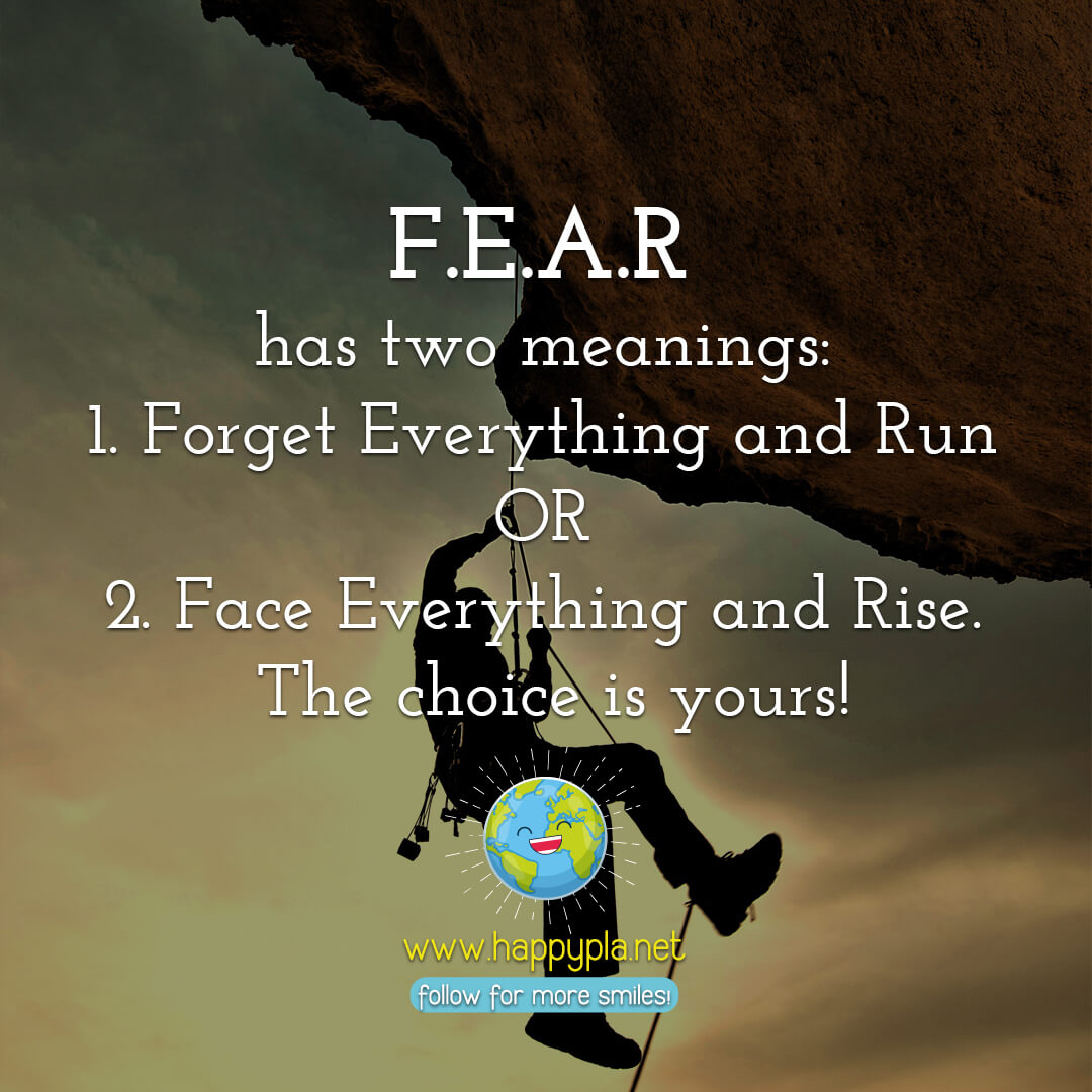 The meaning of FEAR